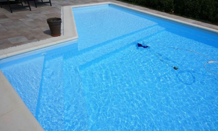 Couleurs PVC armée pour piscine - Bleu