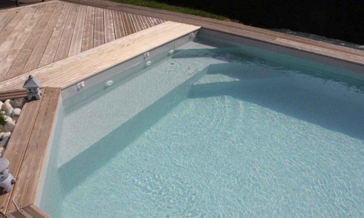 Couleurs PVC armée pour piscine - Gris clair